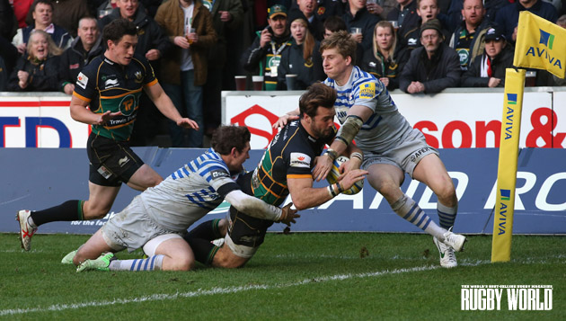 So close: Ben Foden and his Northampton team-mates will be driving hard against Saracens this Saturday