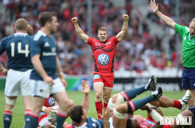 Loving life: Drew Mitchell roars with delight after Toulon overcame Munster in the Heineken Cup semis