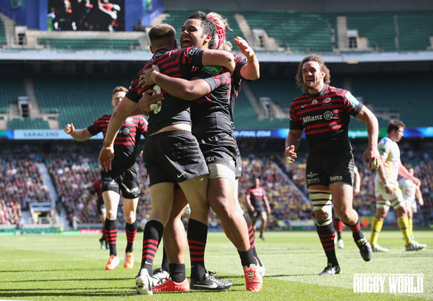 Sarries celebrate: Saracens would have been singing in the changing rooms after beating Clermont