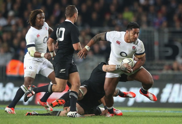 Blasting in from the wing: Manu Tuilagi will join Marland Yarde on the wings this Saturday. He faces Julian Savea