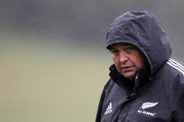 """Eyeing the competition: Steve Hansen said England """"took us on"""" in an All Black-style game and lost"""