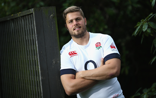 Lean on me: Uncapped second-rower Ed Slater has been selected as England's captain to face the Crusaders