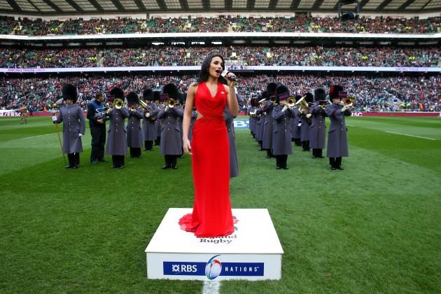 Wright stuff: Should  anthem singer Laura Wright belt out 'Jerusalem' as the anthem?