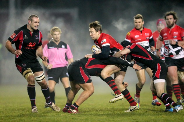 Angus Sinclair tackled by Michael Heaney 17/1/2014