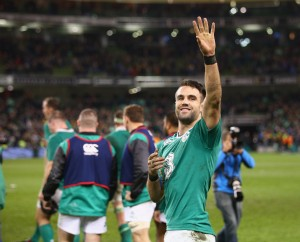 Conor Murray salutes the Irish fans