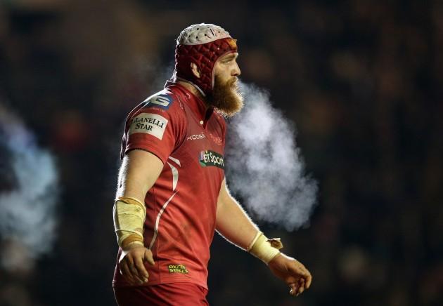 Beard on beard: Jake Ball in the Welford Road mist