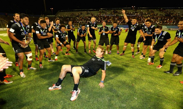 Dancing With Delight Kiwi Coach Scott Robertson Celebrates His Winning U20 All Blacks Tags 2019 World Cuphighlightan