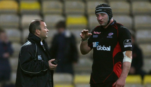 Double act: Eddie Jones and Steve Borthwick in discussions as Saracens back in 2008