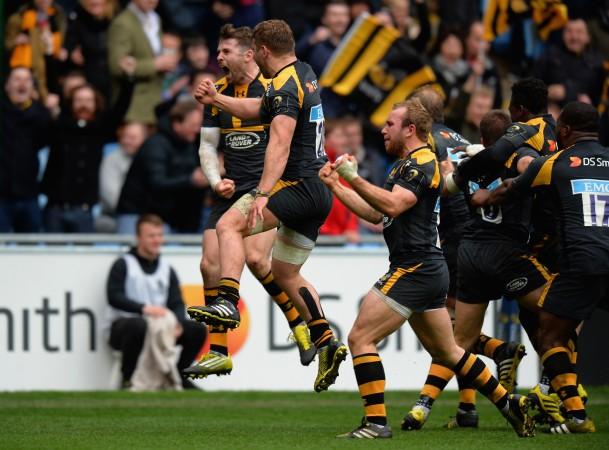 Wasps celebrate