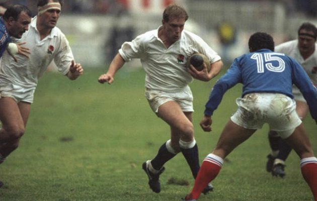 Peter Winterbottom in action against France