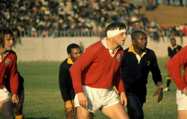 Ireland's Willie John McBride playing for the Lions