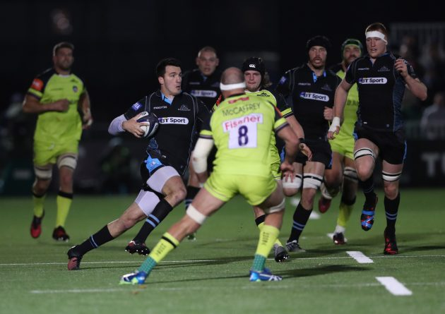 Italian stallion: Leonard Sarto on the gallop for Glasgow Warriors