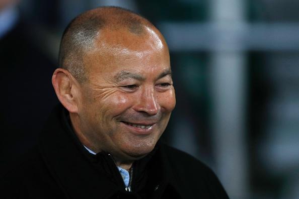 All smiles: Eddie Jones has plenty to be happy about.