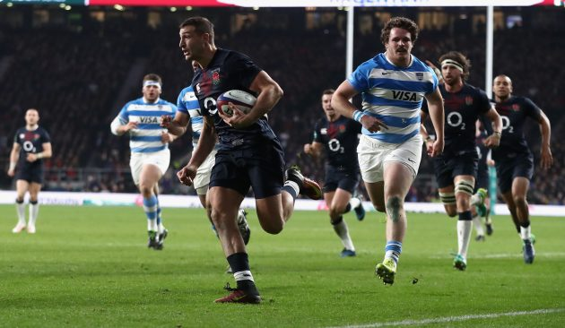 Jonny May scores as England beat Argentina