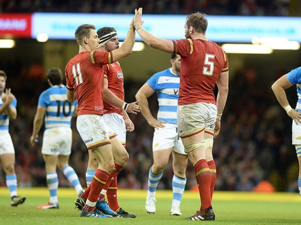 Liam Williams and Alun Wyn Jones