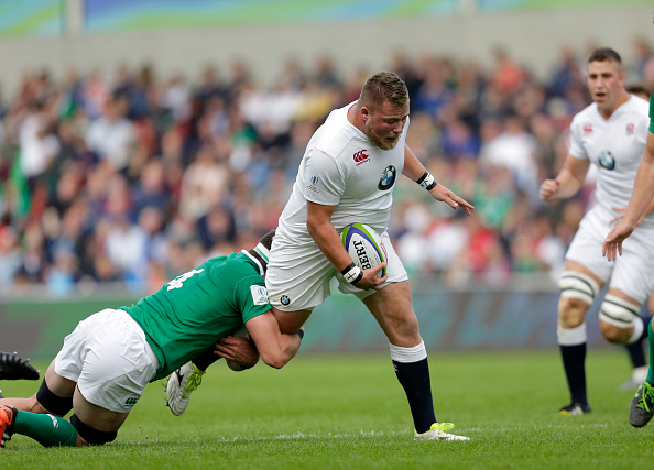 Top prop: Billy Walker on the charge for England U20 at the 2016 World Championship.