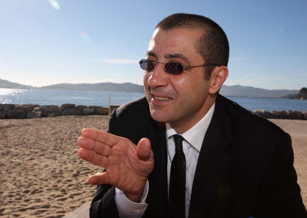 Mourad Boudjellal on the beach