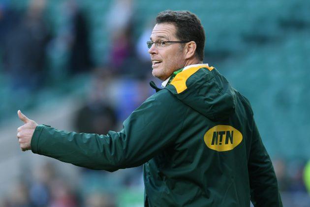 fe52d136028 Rassie Erasmus coaches 'Owen Farrell tackle' in Springboks training