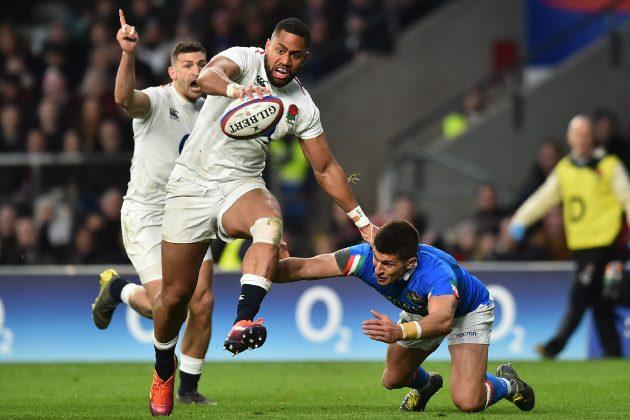 Joe Cokanasiga entertains as England crush Italy