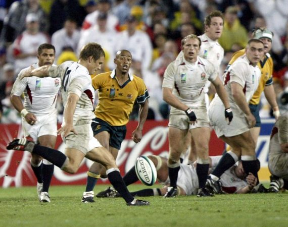 The odds on a drop-goal in the Rugby World Cup final