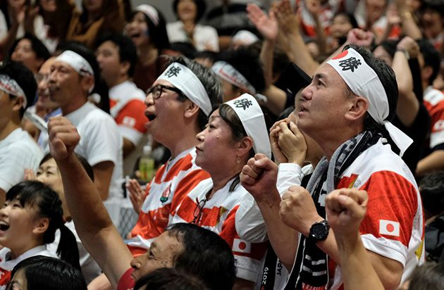 Japan v Scotland draws record TV audience