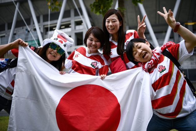 Japan rugby supporters