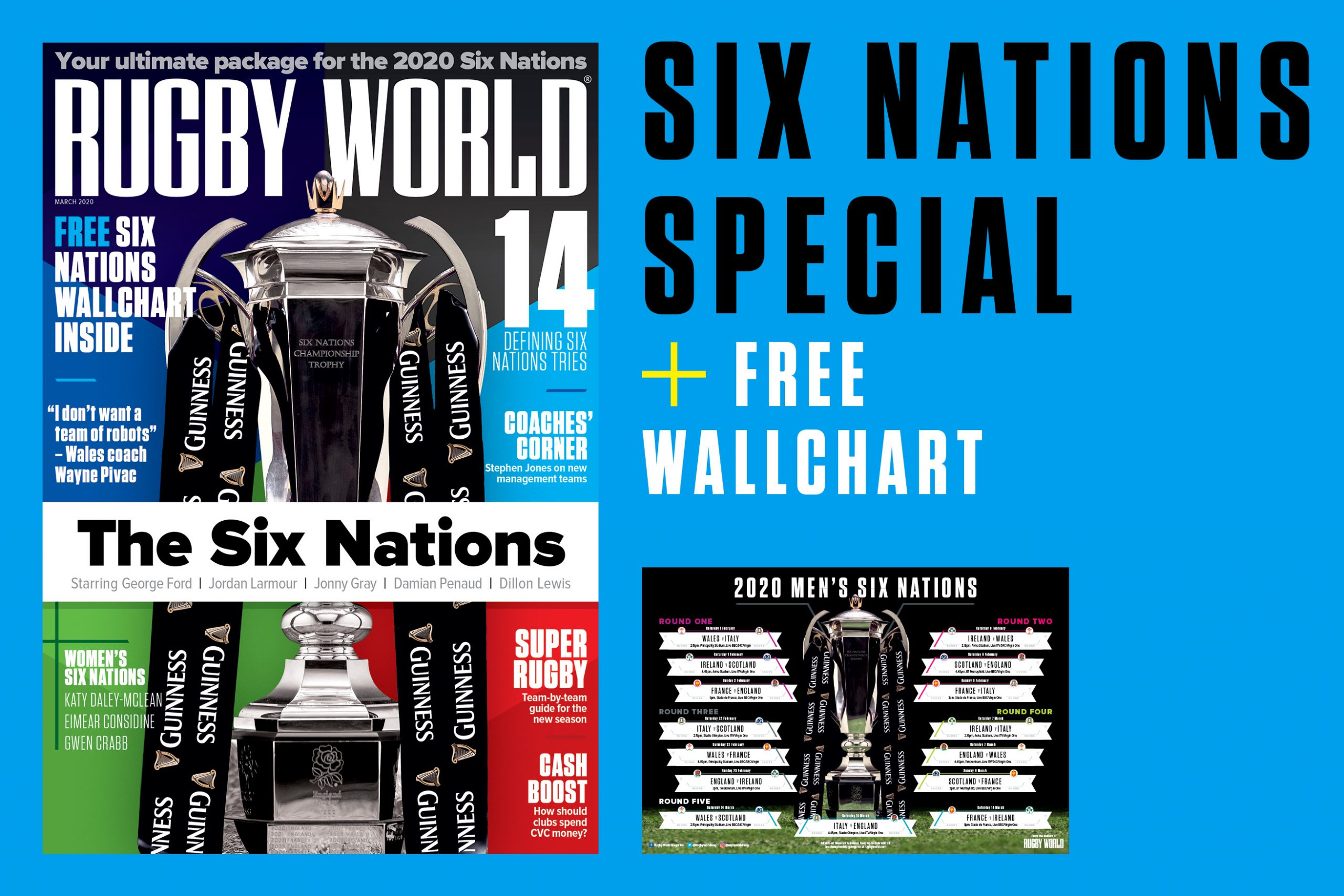 Free Six Nations wallchart with Rugby World's new issue