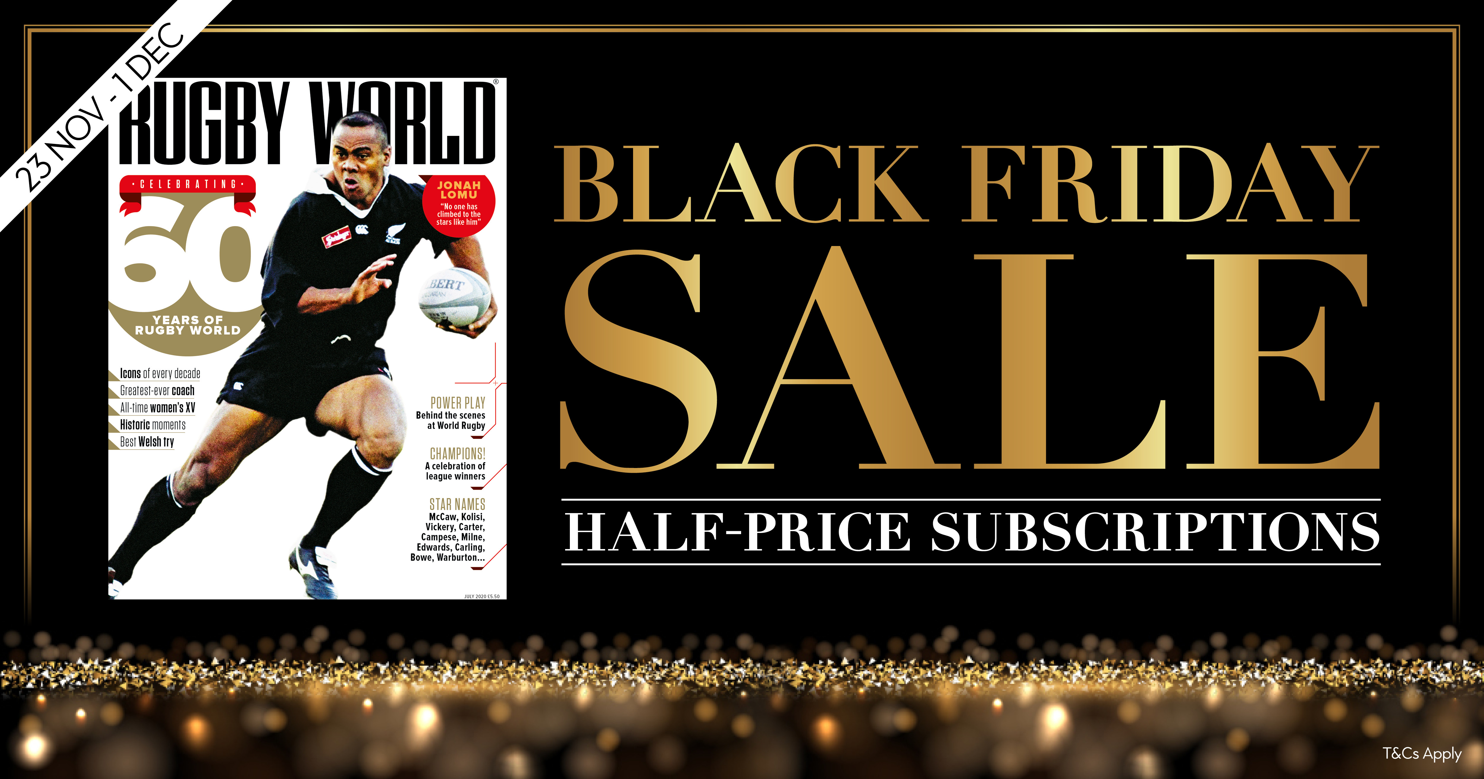 Black Friday Sale: Save 50% on a Rugby World magazine subscription