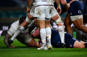 Jamie George first England hooker to score a hat-trick