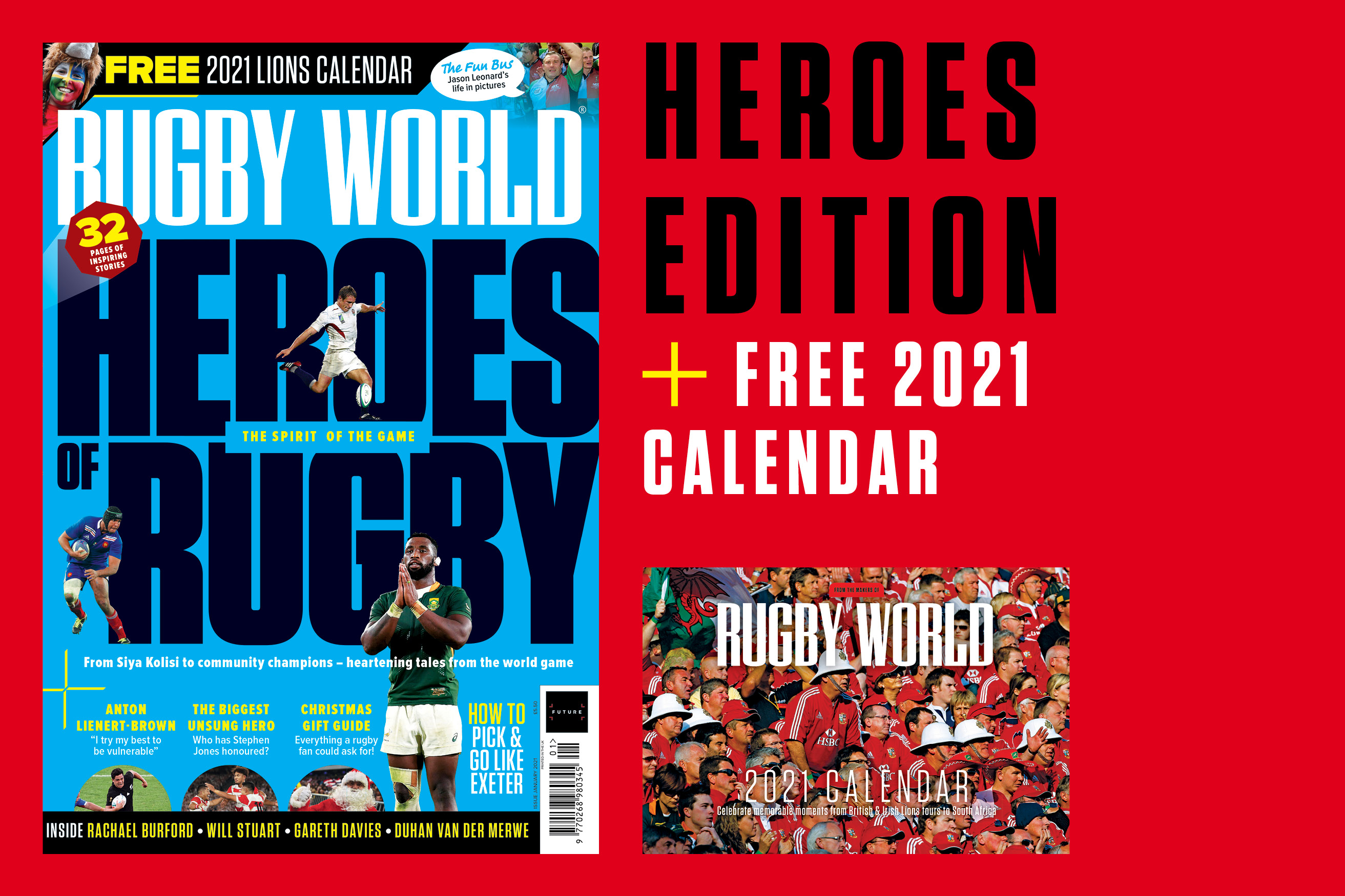FREE 2021 calendar with the new Rugby World magazine