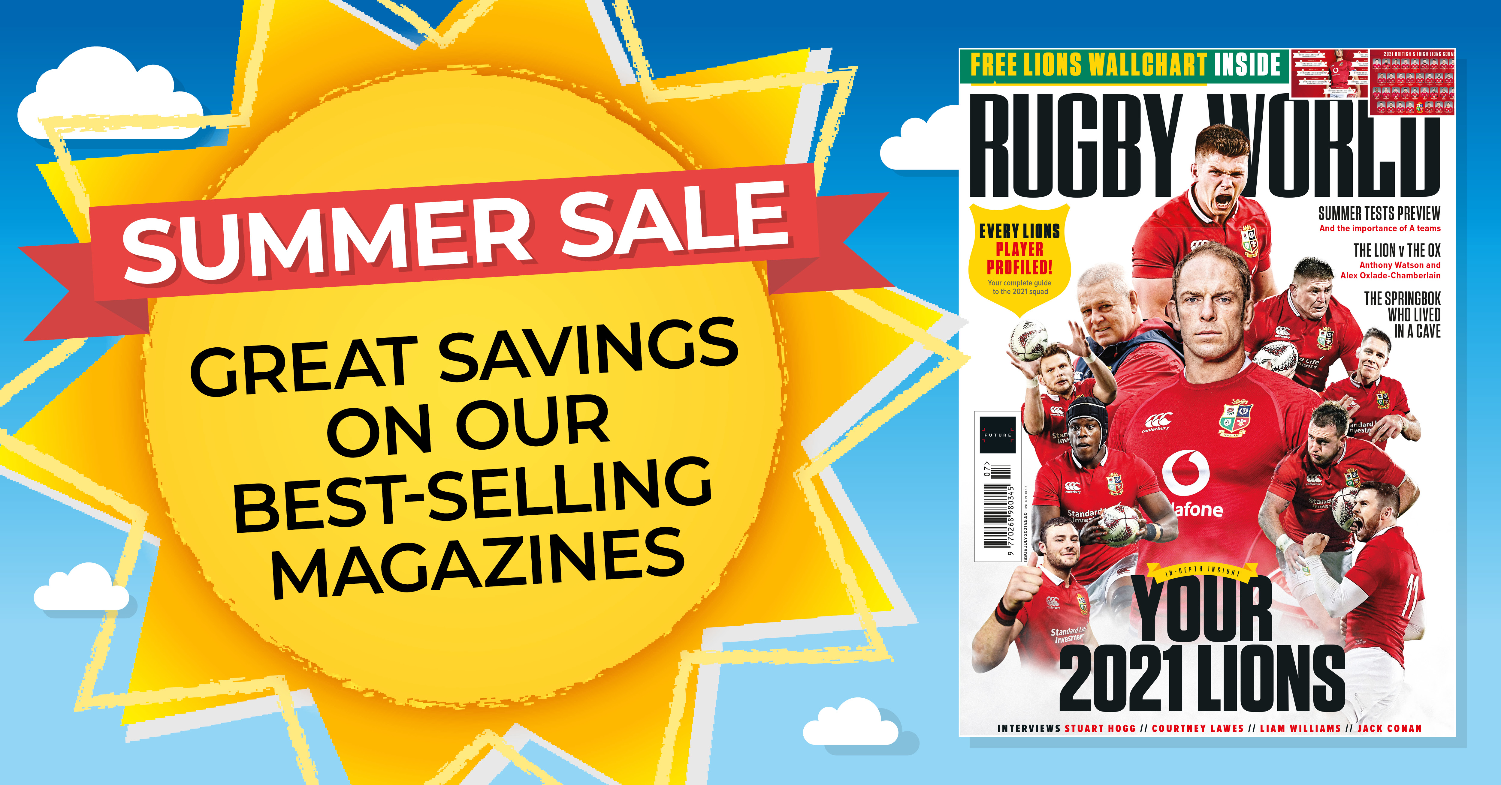 Six issues of Rugby World magazine for £9.99 - Rugby World