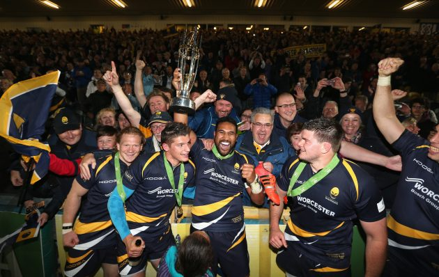 Worcester celebrate promotion