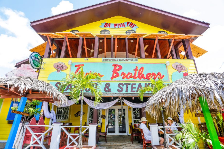 Twin Brothers is one of the hotspots at the Fish Fry on Arawak Cay