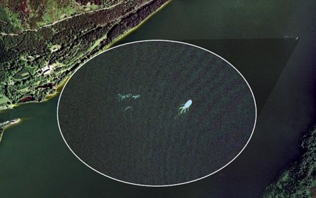 loch ness monster google earth