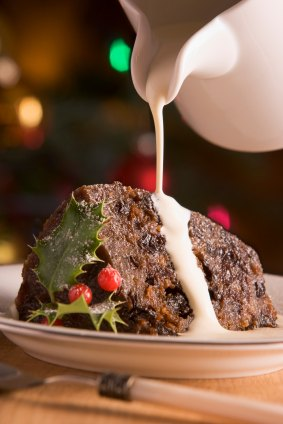 christmas pudding slice jug