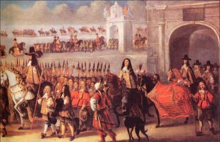 Charles II coronation procession