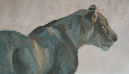 Luangwa Lioness by John Threlfall