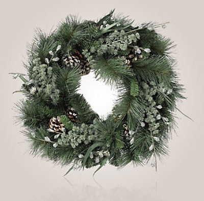 white company christmas wreath