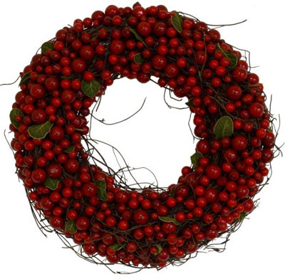 contemporary house christmas wreath