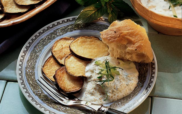 Tzatziki with aubergines