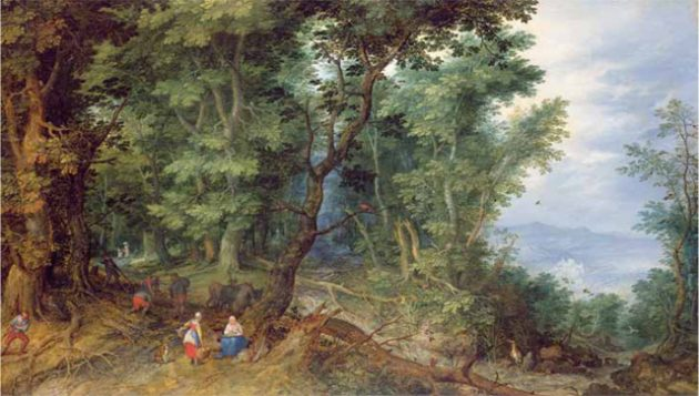 Adrian Lester's favourite painting, The Flight into Egypt by Jan Bruegel the Elder.