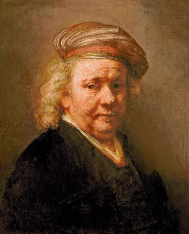 The Archbishop of Canterbury's favourite painting, Self Portrait by Rembrandt van Rijn.