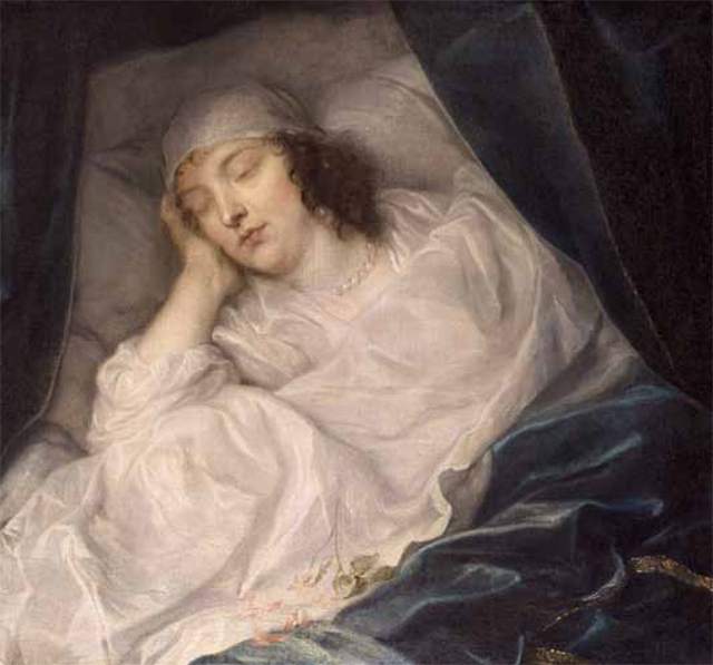 Basil Comely's favourite painting, Venetia, Lady Digby, on her Deathbed by Sir Anthony van Dyck.