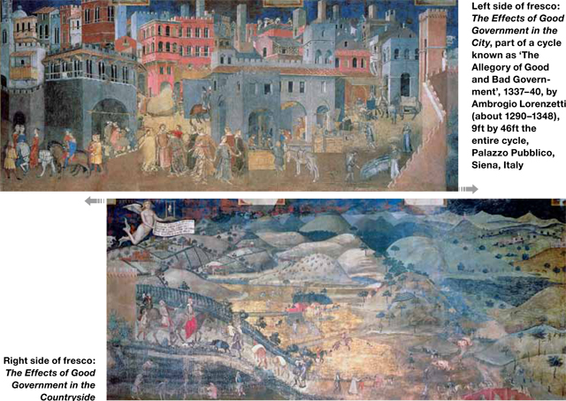 Cressida Bell's favourite painting, 'The Effects of Good Government' by Ambrogio Lorenzetti.