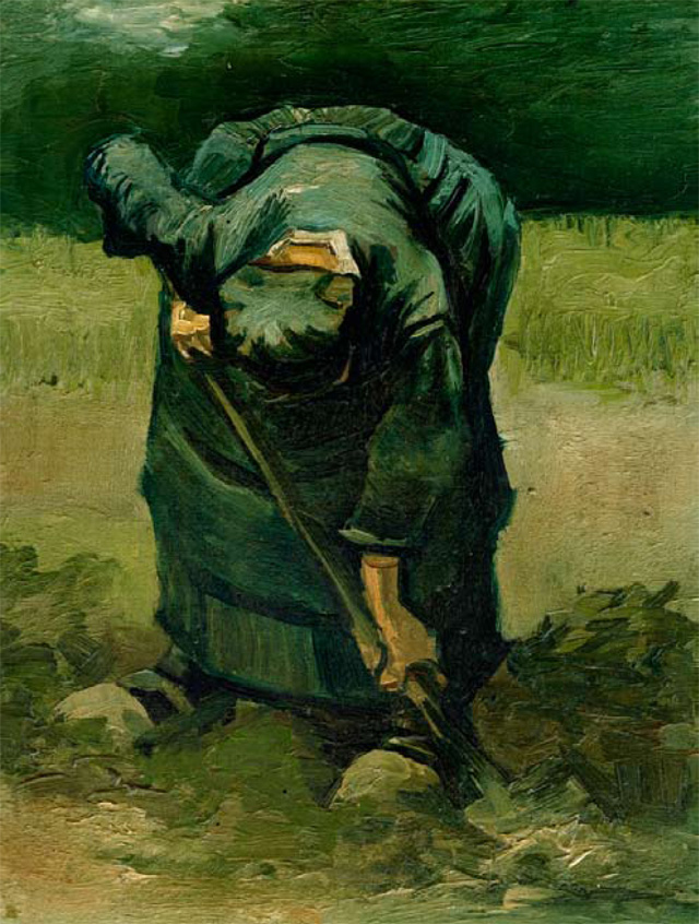 David Lodge's favourite painting, A Peasant Woman Digging by Vincent Van Gogh.