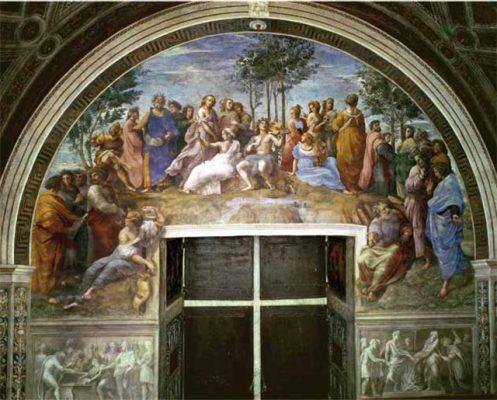 Dervla Murphy's favourite painting, Parnassus by Raphael.