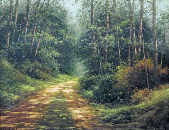 Doris Day's favourite painting, Summer Forest by Edward Szmyd.