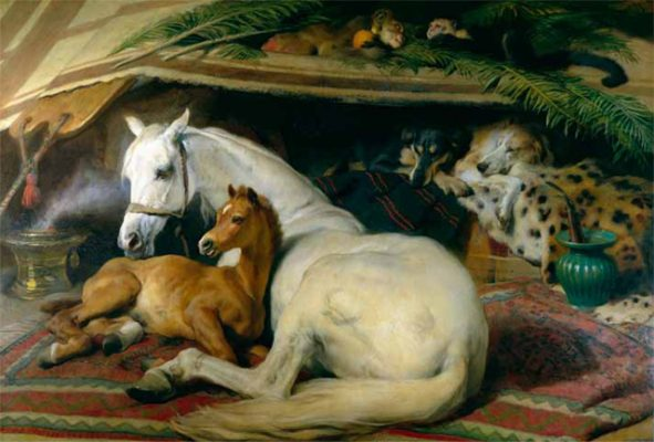 The Duchess of Bedford's favourite painting, The Arab Tent by Sir Edwin Landseer.