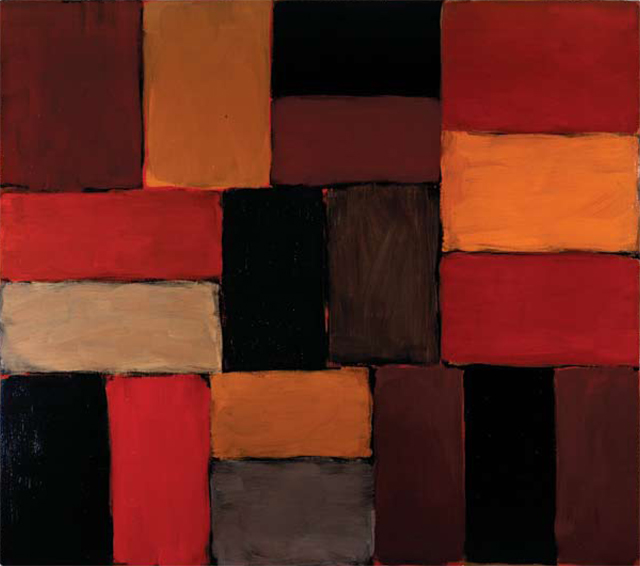 The Duke of Devonshire's favourite painting, Wall of Light Red Day Leaving by Sean Scully.