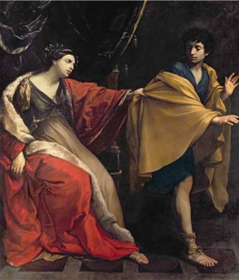 The Earl of Leicester's favourite painting, Joseph and Potiphar's Wife by Guido Reni.